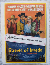 Streets of Laredo (1949) - William Holden - Vintage Trade Ad